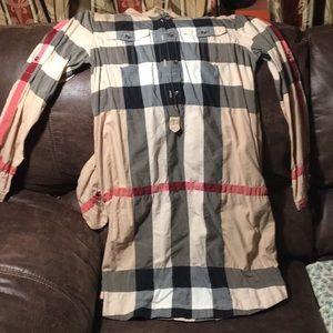 Girls gently used burberry dress in SZ 14